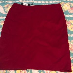 Talbots wool felt pencil skirt